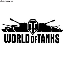 Langru World Of Tanks interesante personalidad divertida vinilo calcomanía coche pegatinas fuera de carretera motocicleta coche decorativo JDM(China)