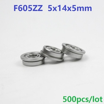 500pcs/lot F605ZZ F605Z F605 Z ZZ F605-ZZ 5x14x5 mm flange flanged Ball Bearing deep groove 5*14*5mm double metal shielded