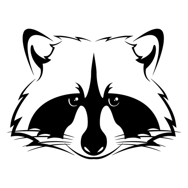 CS-442#15.2*20cm Sticker On Auto - Raccoon Funny Car Sticker And Decal Silver/black Vinyl Auto Car Stickers