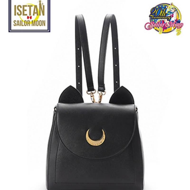 Mignon grand marin lune Samantha Vega Luna sac à dos noir blanc chat Luna lune femmes sac cuir cartable métal lune