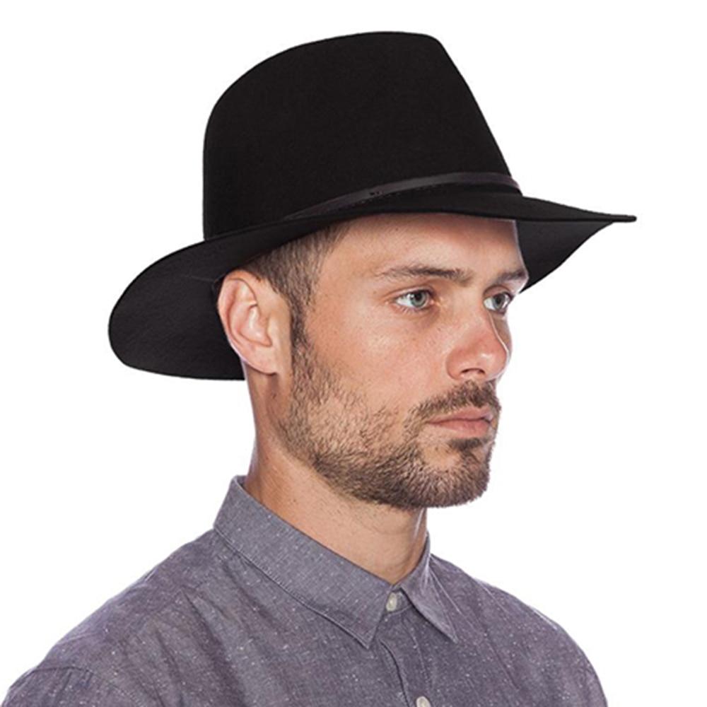 Men Fashion With Fedora Hats: Fashion 100% Wool Summer Women's Men's Crushable Genuine