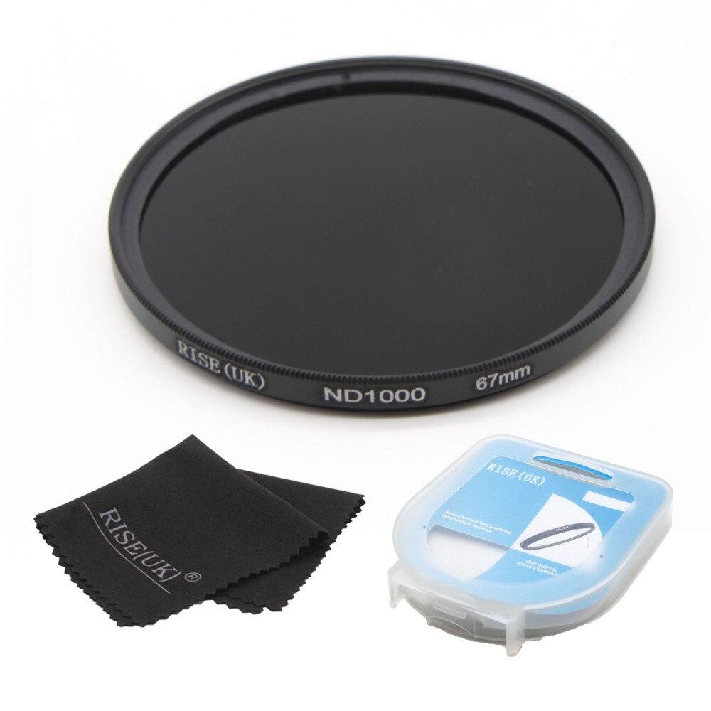 free shipping RISE(UK) 67mm ND1000 Optical Slim Neutral Density ND 1000 Lens Filter for SLR DSLR