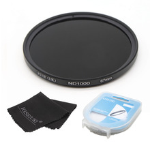 RISE(UK) 67mm ND1000 Optical Slim Neutral Density ND 1000 Lens Filter for SLR DSLR