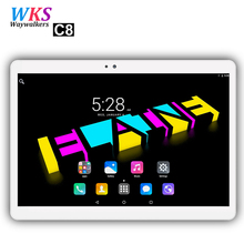 Free shipping 10 inch 4G LTE tablet pc 10 core Android 7.0 4GB RAM 64GB ROM 1920*1200 IPS 5.0GHz WIFI GPS FM tablets pcs 10 10.1