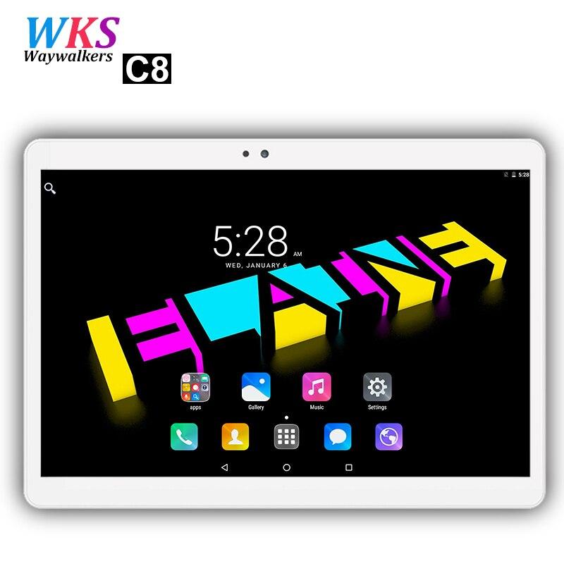 Livraison gratuite 10 pouce 4g LTE tablet pc 10 core Android 7.0 4 gb RAM 64 gb ROM 1920*1200 IPS 5.0 ghz WIFI GPS FM comprimés pcs 10 10.1