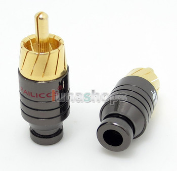 LN004305 Pailic Pailiccs RCA Male Plug Golden Plated solder type Adapter For DIY Custom