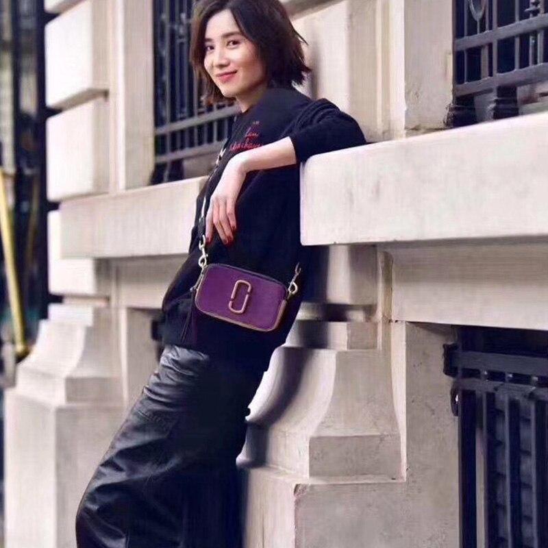 Confortable ensoleillé automne et d'hiver nouvelles femmes de large bandoulière sacoche d'appareil photo d'épaule en bandoulière petit carré sac hit couleur mini-sac