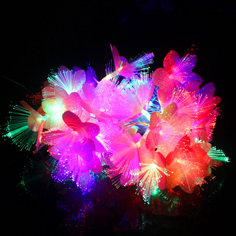 ФОТО Fairy 10m 100 LED Fiber Optic string lights christmas lights wedding luminaria decoration Garland guirnalda luces decorativas
