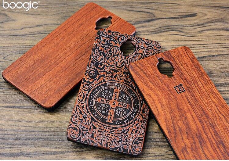 Único oneplus 3 a3000 slim bambú madera pc contraportada case para oneplus tres