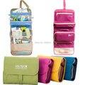 Acessórios de Moda Sólida de Poliéster Dobrável Tecido Oxford bolsa de Viagem das mulheres Das Mulheres Sacos com Gancho para produtos de Higiene Pessoal saco de Lavagem de Viagem