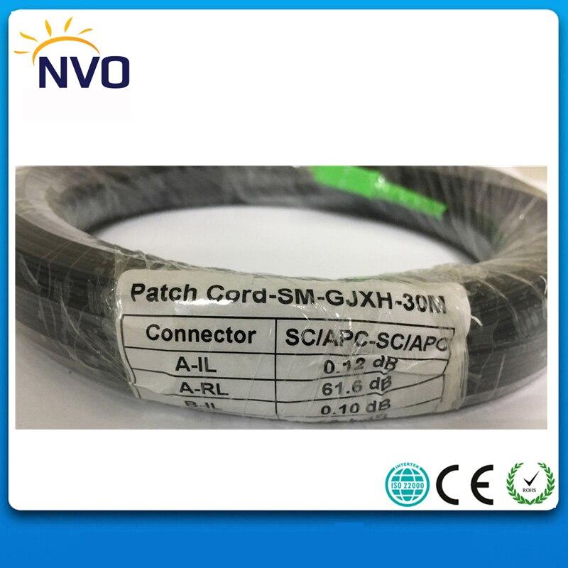 30M 1core FTTH Outdoor Fiber Optic Drop Cable Patch Cord FC/UPC to SC/UPC LSZH Simplex GJYXCH Fiber Optic Jumper