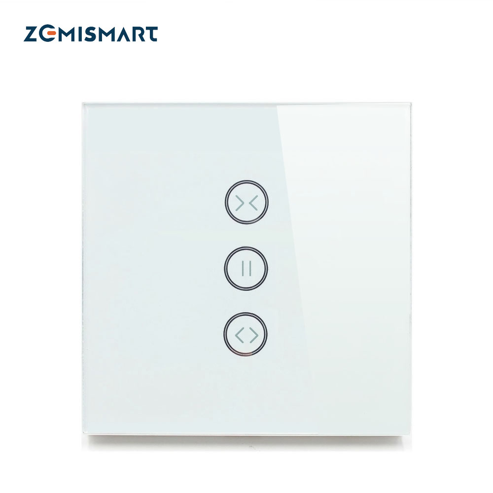 EU type Curtain Wall Switch WiFi Control via APP or Voice Control by Alexa Google Home AC110 to 240V Suit for Roller Shutter