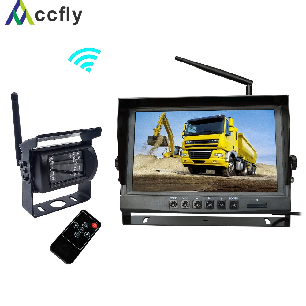 ACCFLY 9 inch Wireless Backup Camera Kit Waterproof Wireless Rear View  Camera,Night Vision Reverse Rearview Cam for Trucks, car