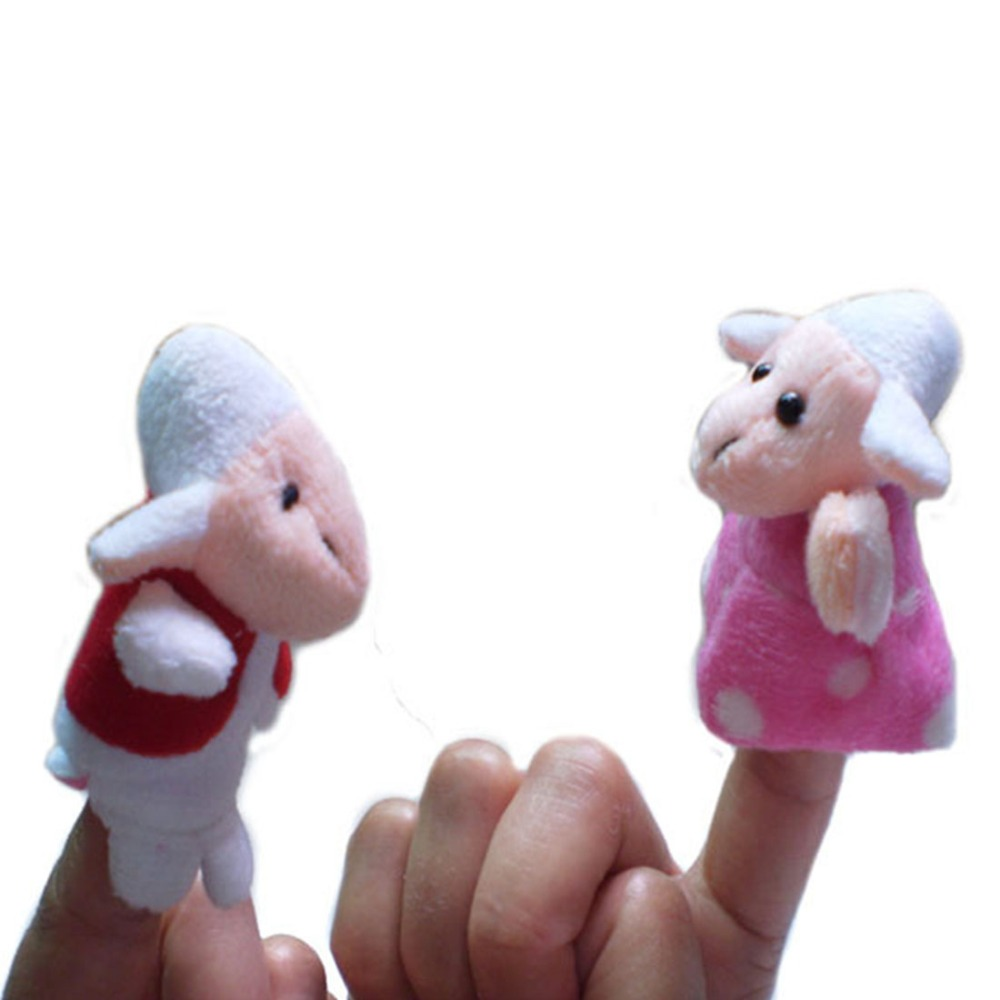 The Wolf /& 7 Little Lambs finger puppets Fairy tale Nursery Rhymes Story telling