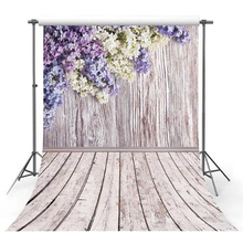 Thin Vinyl photography background Customize spring flowers Wood Backdrops  Background for photo Studio F-2341
