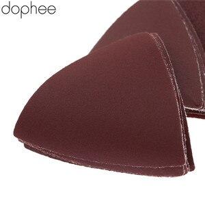Image 4 - Dophee 32 Stuks Driehoekige Schuurpapier Grit 60/120/180/240 # Voor Multifunctionele Power Tool Als Fein Multimaster dremel Gereedschap 83 Mm