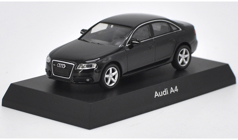 1:64 Diecast Model for Audi A4 Black Sedan Alloy Toy Car Miniature Gifts S4