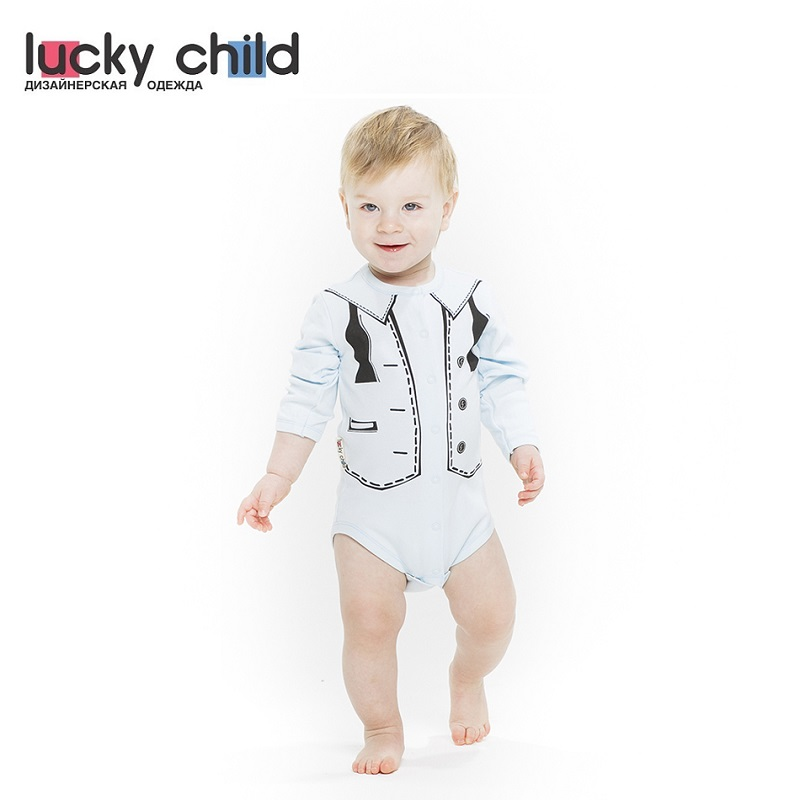 Bodysuits Lucky Child for boys 3-13 Body Newborns Babies Baby Clothing Children clothes new arrival pink 45cm lovely like real baby reborn doll toys playtoys for kid child girl brinquedos silicone reborn babies