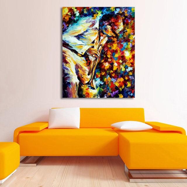 Spachtel Auf Leinwand Gedruckt Malerei Musiker Saxophon Piano Music  Wandbild Für Wohnzimmer Schlafzimmer Dekoration