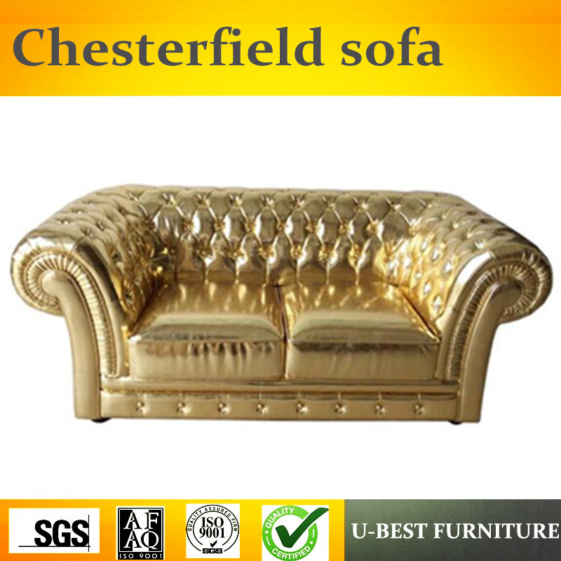 U-BEST Modern Style Leather Classic Leather Chesterfield Contemporary Hot Sale Sofa,Retro Luxurious Living Room Sofa
