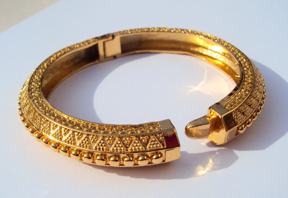 Alert Carve 24k Thai Baht Yellow Solid Gold Finish Jewelry Bangle Bracelet Ba09 Reputation First Bangles