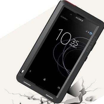Funda de cuerpo completo para Sony Xperia XA1 Plus Ultra XZ XZ1 XA2 XA Ultra 2 a prueba de golpes carcasa de Metal para sony XA + gorila de vidrio
