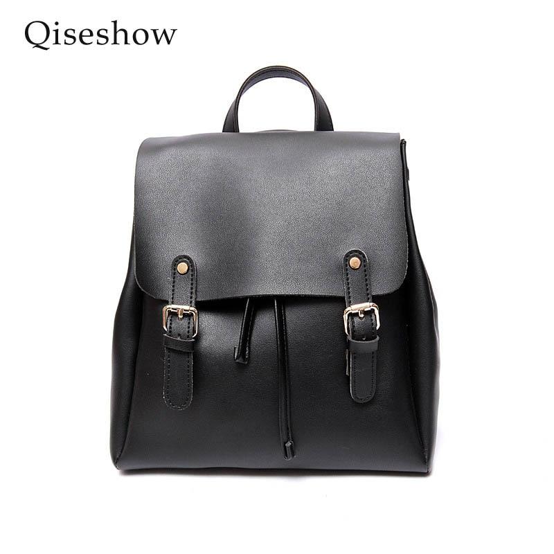 ФОТО Fashion Women Backpack High Quality Youth Leather Backpacks for Teenage Girls Female School Shoulder Bag Bagpack mochila