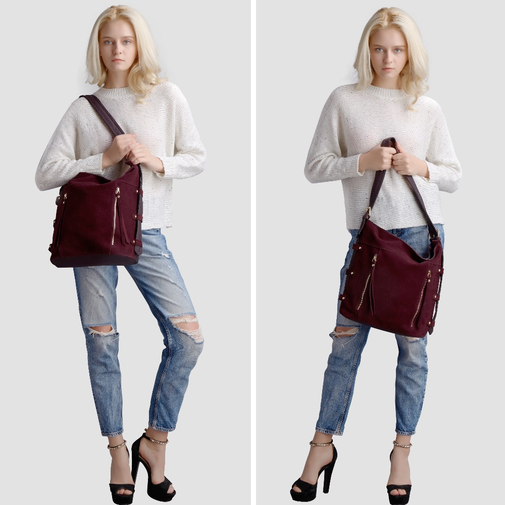 55a08f4d25dd Fashion Latest Women Real Split Suede Leather Tote Bag New Leisure Large  Top-handle Bags Lady Casual Crossbody Shoulder Handbag