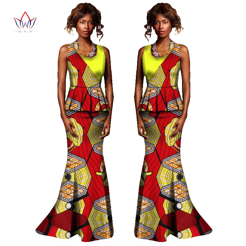 African Dresses for Women Fashions Designs Plus Size Two Piece Set ... 45826ee0c040