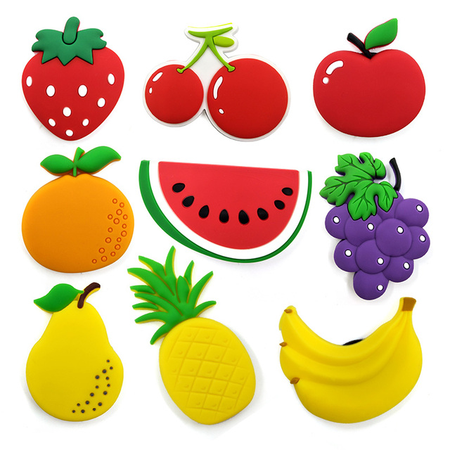 Vegetable Fruit silicone fridge magnets Bicycle whiteboard love sticker Refrigerator Magnet Kids Message post Home Decoration 3