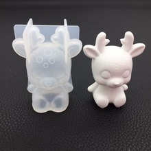 3D Crystal Epoxy pray Christmas sika deer /Lucky Cat/mold scented gypsum spread incense mold set table decoration mould