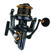 TK8000/9000/10000 fishing reel metal spinning reel 14+1BB 4.1:1 feeder fishing fly fishing reel moulinet peche casting reel carp