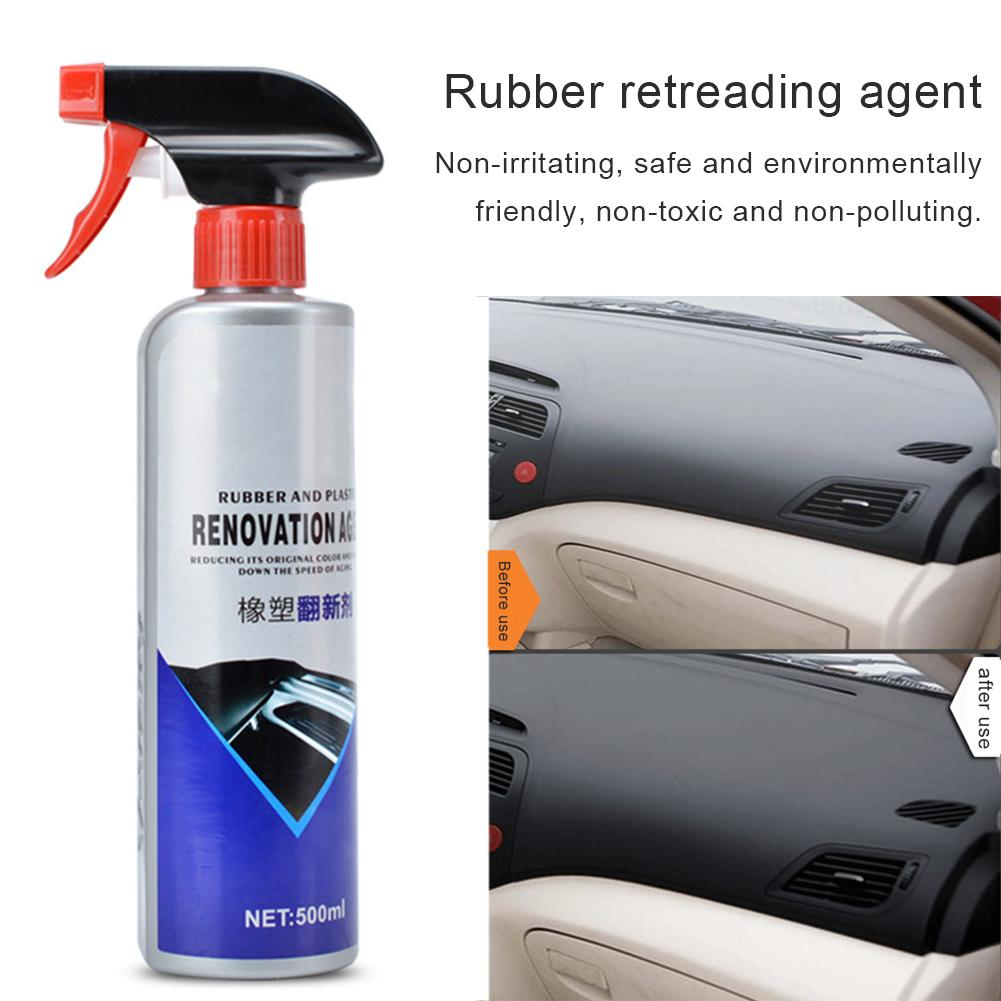 500ML Retreading Plastic Plating Crystal Reducing Agent Rubber Parts Protection Polishing Paste Wax Car Scratch Repair Agent