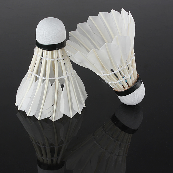6 Pieces Badminton Balls Feather Shuttlecock White for Training Outdoo new