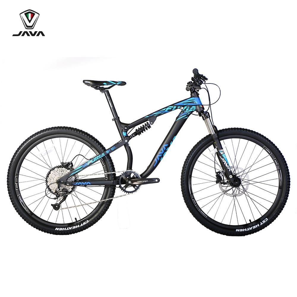 """JAVA FURIA 27,5 """"aluminio suspensión montaña con 315 Hygraulic frenos 650B MTB bicicleta 9 11 velocidad"""