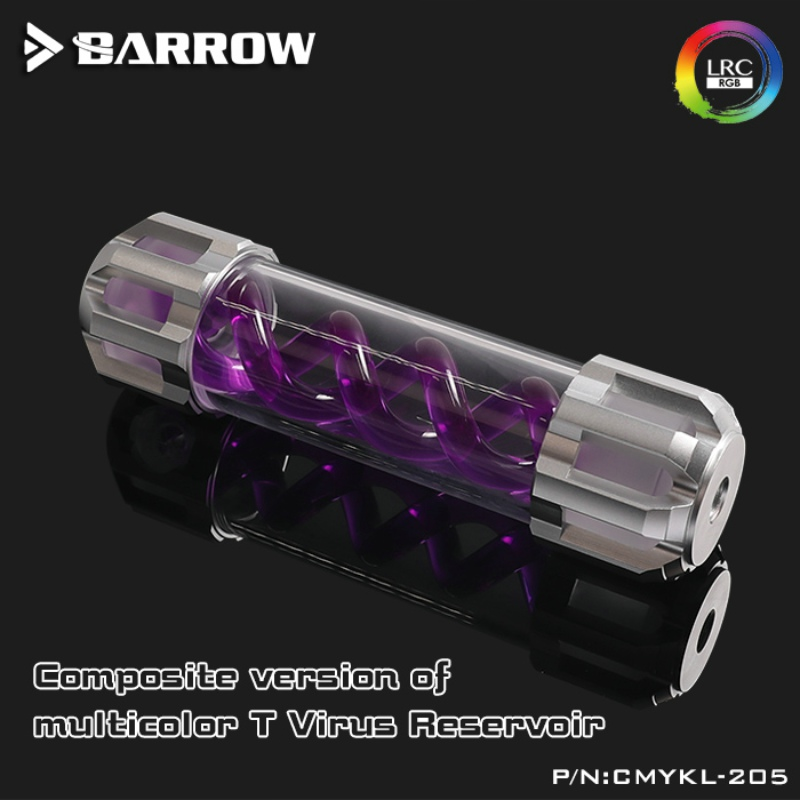 Brouette CMYKL-205 Type Composite Virus-T réservoirs en alliage d'aluminium couvercle + corps acrylique plusieurs couleurs spirale 205mm