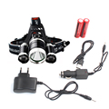led Headlight 9000 Lumen chips 3x XM-L T6 headlamp LED Head Lamp Flashlight head torch Headlamp battery Recharge CAR charger