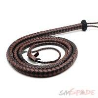 smspade 1.6m long microfiber leather bull whip ,bodnage sex spanking bull whip/horse whip, handmade horse flogger whip