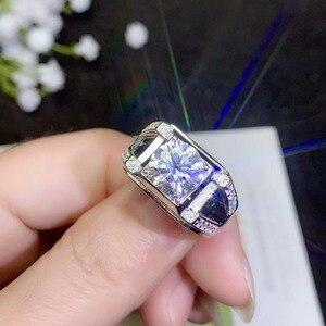 Image 4 - モアッサナイト男性のリング、 925 シルバー、美しい Firecolour 、ダイヤモンド代替
