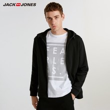 JackJones Men's Cardigan Hooded Sweatshirt Fleece Jacket Men's Hoodies 2019 Brand New Fashion Menswear 218333524