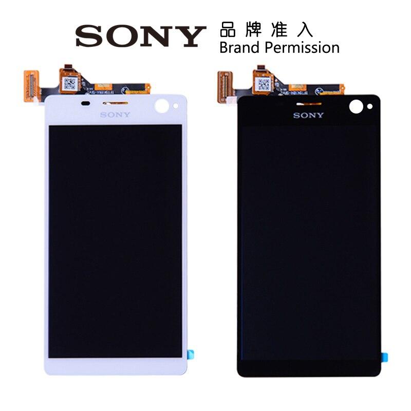 imágenes para 100% Probado Pantalla Original Para Sony Xperia Pantalla C4 con LCD Digitalizador de Pantalla táctil Para Sony Xperia C4 E5303 E5306 E5333
