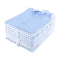 10Pcs Fast Clothes Fold Board Clothing Organization System Shirt Folder Travel Closet Drawer Stack Household Closet Organizer|Storage Boxes & Bins| |  -
