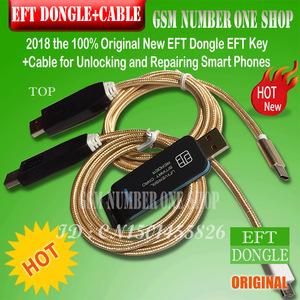 Image 1 - 2020 original new EFT DONGLE AND 2 IN 1 CABLE SET / eft dongle EFT Key + 2 in 1 cable  for Unlocking and Repairing Smart Phones