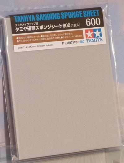 Tamiya 87148 Sanding Sponge Sheet - 600 Model Kit Use