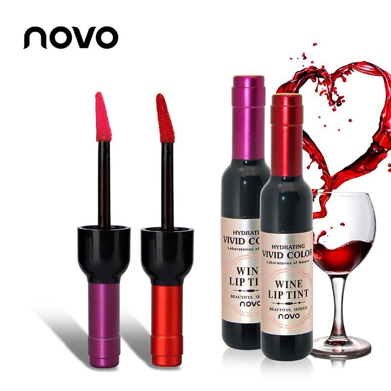 Ernst Novo Marke Rotwein Flasche Matt Flüssigen Lippenstift Lip Gloss Langlebige Kein Verblassen Lipgloss Befeuchten Lippen Tönung Schönheitsprodukte Schönheit & Gesundheit
