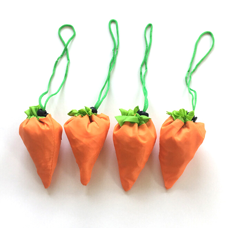 Vegetable Carrot shape Reusable Shopping Bag Folding Tote Pouch Recycle Storage Handbags Large-capacity Foldable Grocery BagsVegetable Carrot shape Reusable Shopping Bag Folding Tote Pouch Recycle Storage Handbags Large-capacity Foldable Grocery Bags