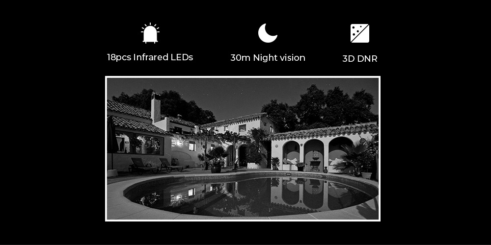 Wireless Weatherproof Security Night Vision Camera RLC-410W