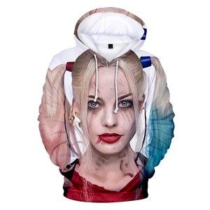 Image 4 - FrdunTommy haha joker e Harley Quinn 3D Stampa Con Cappuccio Da Uomo/donne Hip Hop Divertente Autunno Streetwear Felpe Per Le Coppie vestiti 4XL