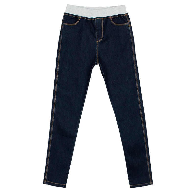 Pantalones vaqueros para niños niñas Skinny elástico coreano Demin pantalones Gloria + Jeans Niñas Ropa 10 12 años moda niños Pantalones los niños grandes