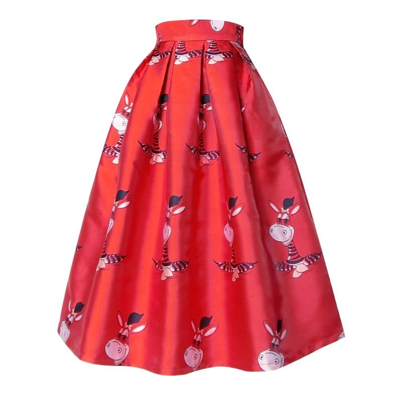 Otoño Impreso Color Red 3298 Xhsd Cintura Dulce Alta Rojo Invierno Azul Encantadora Mujeres blue De Las Paraguas Falda FqwR65aPX